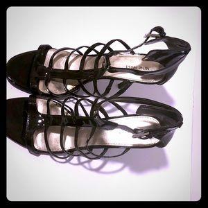 Nine West Patent Leather Gladiator Heels
